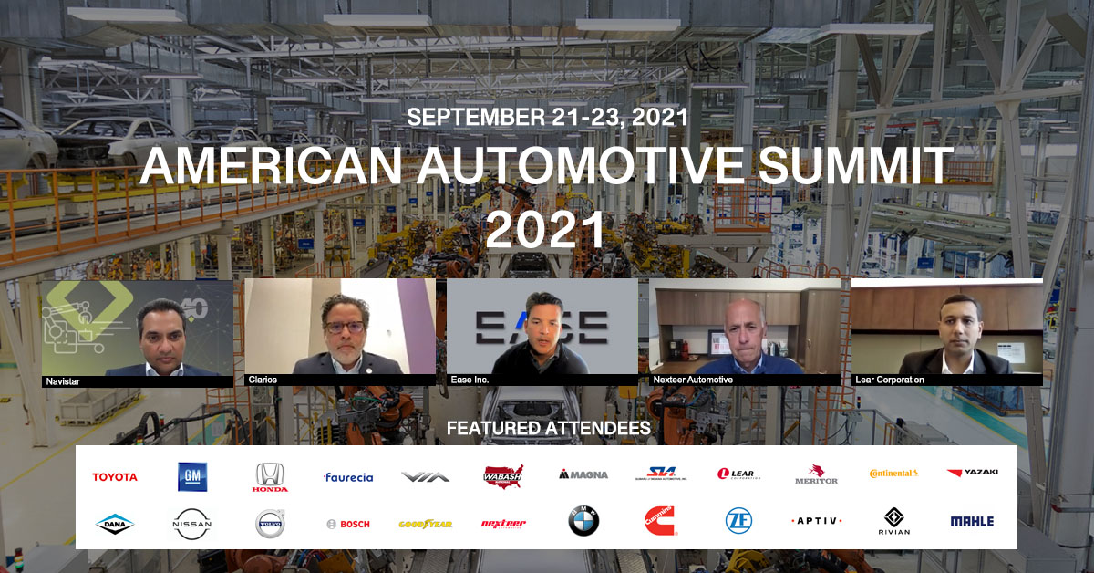 EASE CEO Eric Stoop hosts a panel at American Automotive Summit about OEM-Supplier relationships